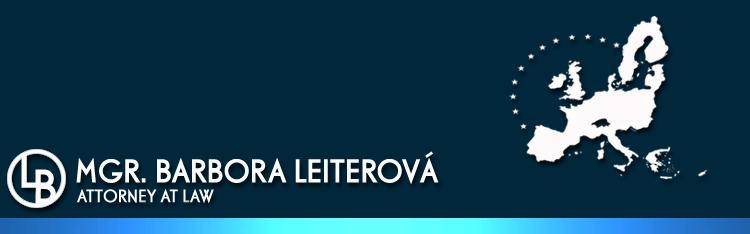 Mgr.Barbora Leiterová - advokát
